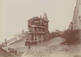 Dieppe Scene Vie Quotidienne Ancienne Photographie Instantanée Amateur 1900 - Photographs