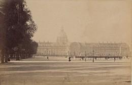 Revue Militaire Aux Invalides Paris Pittoresque Ancienne Photo Instantanée 1885 - Photographs
