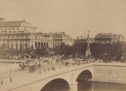 Pont Au Change Paris Pittoresque Ancienne Photo Instantanée 1885 - Photographs