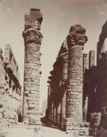 Egyptologie Karnak Temple Ruines Egypte Ancienne Photo 1900 - Africa