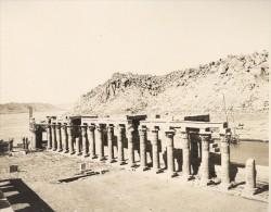 Egyptologie Philae Portique De Nektanebos Egypte Ancienne Photo 1900 - Africa