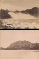Chute Du Ler & Torgatten Paysage De Norvege Deux Anciennes Photos 1890