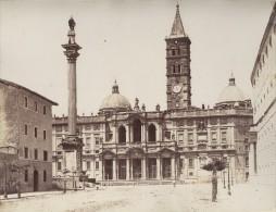 Italie Rome Basilique Sainte Marie Majeure Deux Anciennes Photos Recto Verso 1890 - Anciennes (Av. 1900)
