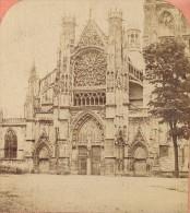 Dieppe Eglise Saint Jacques Normandie France Ancienne Photo Stereo Neurdein 1880 - Stereoscopic