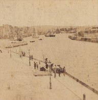 Le Havre Entrée Du Port France Ancienne Photo Stereo Andrieu 1870 - Stereoscopic