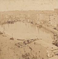 Le Havre Vieux Bassin De La Cote D Ingouville France Ancienne Photo Stereo Andrieu 1870 - Stereoscopic