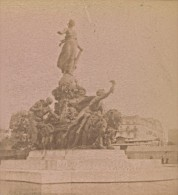 Paris Statue Triomphe De La Republique France Ancienne Photo Stereo 1890 - Stereoscopic