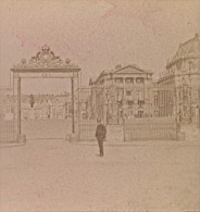 Versailles Entree Du Chateau France Ancienne Photo Stereo 1890 - Stereoscopic