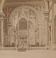 Rome Eglise St Jean De Latran Italie Ancienne Photo Stereo 1890 - Stereoscopic