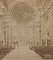 Roma Interieur Du Gesu Italie Ancienne Photo Stereo 1890 - Stereoscopic