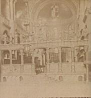 Venise Interieur De L'église Saint Marc Italie Ancienne Photo Stereo 1890 - Stereoscopic