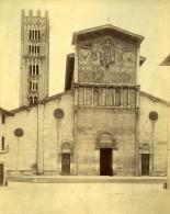 Lucques Basilique De San Frediano Italie Ancienne Photo Albuminée 1880 - Photographs