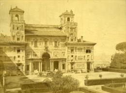 Rome Villa Medicis Academie De France Italie Ancienne Photo Albuminée 1880 - Photographs