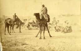 Algerie Groupe De Bedouins Peinture Alger Ancienne CDV Photo Ricman 1870