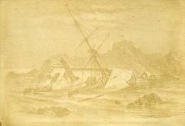 Naufrage Du Paquebot Borysthene France Ancienne CDV Photo 1866