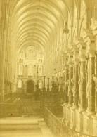 Reims Cathedrale St Remy Interieur France Ancienne CDV Photo Valecke 1870 - Non Classés