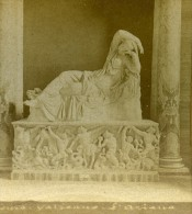 Italie Rome Vatican Sculpture Ancienne Photo Stereo 1870