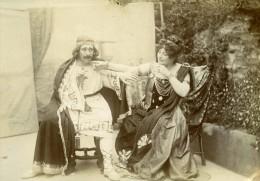 Fete Familiale Deguisement Montbrison 42600 France Ancienne Photo Amateur 1890 - Photographs