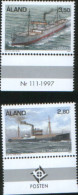 Aland 1997 Ships Navi Mercantili 2v Complete Set ** MNH - Aland