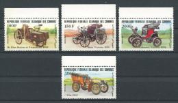 Comores 1984 N° 408/411 ** Neufs  = MNH Superbes Cote 12.25 € Communications Vieilles Voitures Cars De Dion Transports - Comores (1975-...)