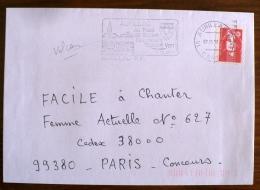 FRANCE Volcans, Volcan, GEOLOGIE,  Flamme Aurillac Au Pays Des Volcans. Cachet  07/10/1996 - Vulkane