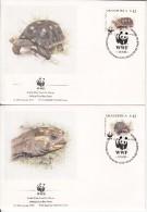 Venezuela FDC Scott #1471a-#1471d Set Of 4 Morroccoy, Tortuga - Turtles - WWF - Venezuela