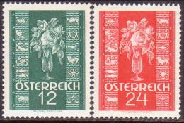 Austria 1937 Mi #658-59 Compl.set MNH OG - Ungebraucht