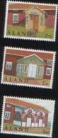 Aland 1998 Architecture Houses  - Case Architettoniche Di Aland 3v Complete Set   ** MNH - Aland