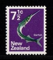NEW ZEALAND 1970 Garfish 7 1/2  YT N°517** Neuf Sans Charnière - New Zealand