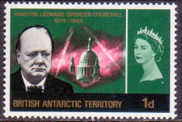 British Antarctic Territory 1966 SG #17 1d MNH OG Churchill - Unused Stamps