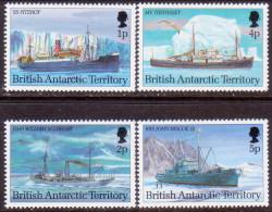 British Antarctic Territory 1993 SG #218//22 Part Set 4 Stamps Of 12 MNH OG Antarctic Ships - British Antarctic Territory  (BAT)