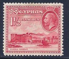 Cyprus, Scott # 129 Mint Hinged Kyrenia Harbour, 1934 - Cyprus (...-1960)