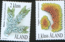 Aland 1999 Flora Licheni 2v Complete Set   ** MNH - Aland