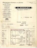 SAINT OUEN  93  MANUFACTURE DE FEUTRES EN TOUS GENRES   A DAWANT   FACTURE 1928 - Artesanos