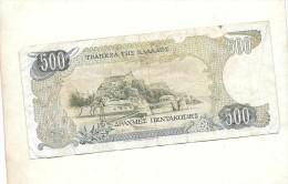 Billet  Grec De 500 - Greece