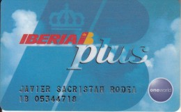SPAIN - Iberia, Member Card, Used - Airplanes