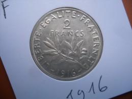 2 Francs  argent 1916