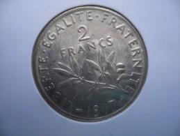 2 Francs  argent 1917