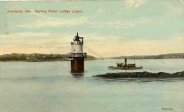 PHARE --PORTLAND ME SPRING POINT LEDGE LIGHT-U S A- A  Voyagé  En 1909 - Portland