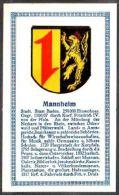 Abdulla Cigarettes - Deutsche Städtewappen 1928. Trade Card/Sammelbild 6x10 Cm : Mannheim - Cigarette Cards