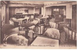 CPA Interieur De L'Ile De France, Salon Des 2mes Classes, Le Havre, Paquebot, Oceanliner (pk18201) - Paquebots
