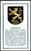 Abdulla Cigarettes - Deutsche Städtewappen 1928. Trade Card/Sammelbild 6x10 Cm : Heidelberg - Cigarette Cards