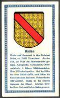 Abdulla Cigarettes - Deutsche Städtewappen 1928. Trade Card/Sammelbild 6x10 Cm : Baden-Baden - Cigarette Cards