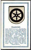 Abdulla Cigarettes - Deutsche Städtewappen 1928. Trade Card/Sammelbild 6x10 Cm : Osnabrück - Cigarette Cards