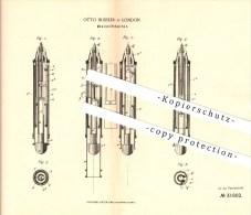Original Patent - Otto Bussler In London , 1883 , Bleistifthalter , Bleistift , Schreibwaren !!! - Schreibgerät