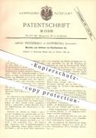 Original Patent - Adolf Freudenberg In Schweidnitz / Swidnica  , Schlesien , 1884 , Fräsmaschine Für Rohrflantschen !!! - Documents Historiques