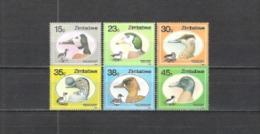 Simbabwe Zimbabwe 1988 Tiere Animals Fauna Vögel Birds Enten Ducks Gänse Gans Gooses, Mi. 390-5 ** - Zimbabwe (1980-...)