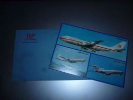 LC118 AA1-16 Carte Postale Et Enveloppe TAP Airlines Boeing 707 727 747 - état Neuf - Aviation