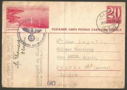 Guerre 39-45 / War 39-45 - Suisse - Carte Du 20/8/40 De Davos à Deurne (Anvers) + Cachet Censure Militaire Allemande - Suisse