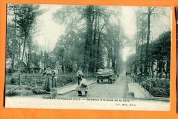 MNB-26  Romilly-sur-Andelle Verreries Et Avenue De La Gare, Attelage. ANIME.  Non Circulé - France